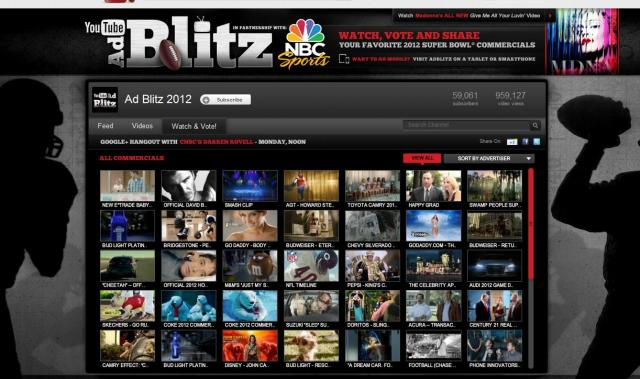 Ad Blitz 2012 YouTube Channel