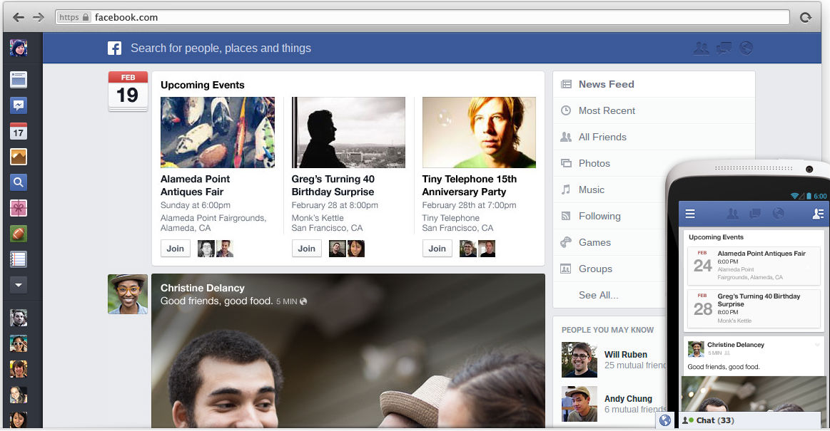 Newsfeed will unify the mobile-tablet-and-desktop experiences for users.